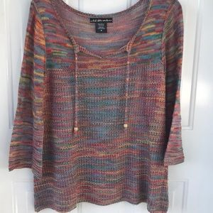 COLORFUL KNIT SWEATER BY UNITED STATES SWEATERS M